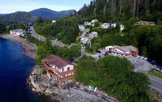Sitka Rock Suites Aerial View